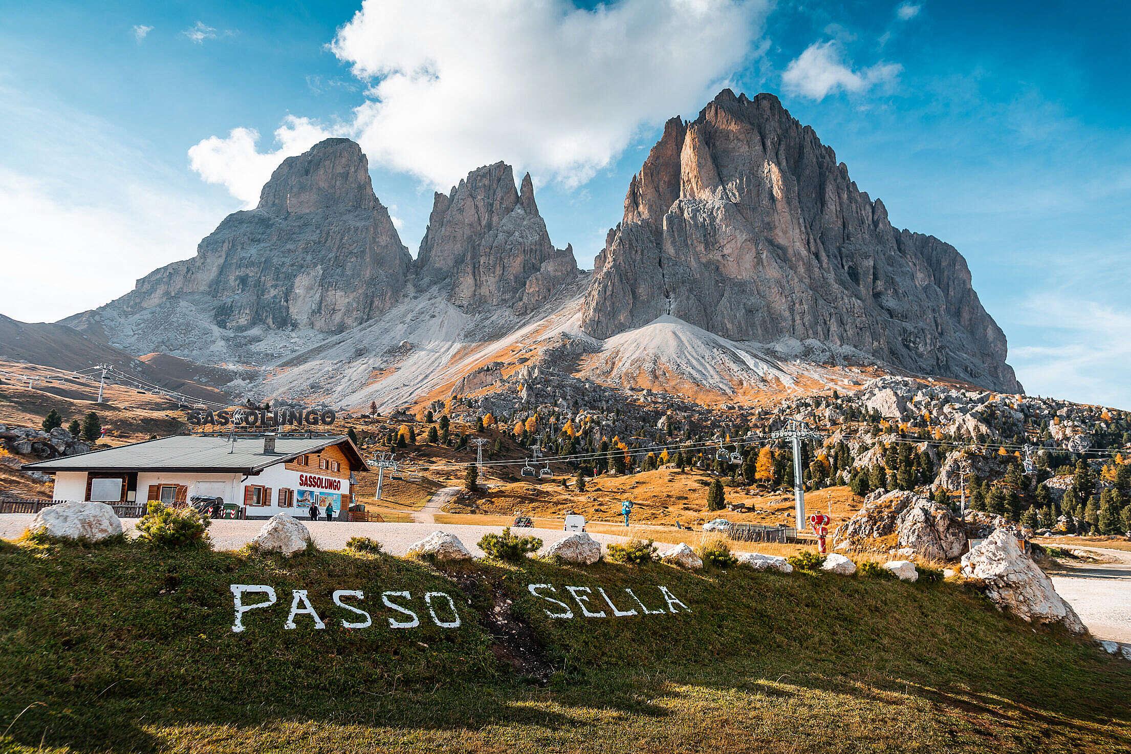 Passo Sella, Dolomites, Italy Free Stock Photo