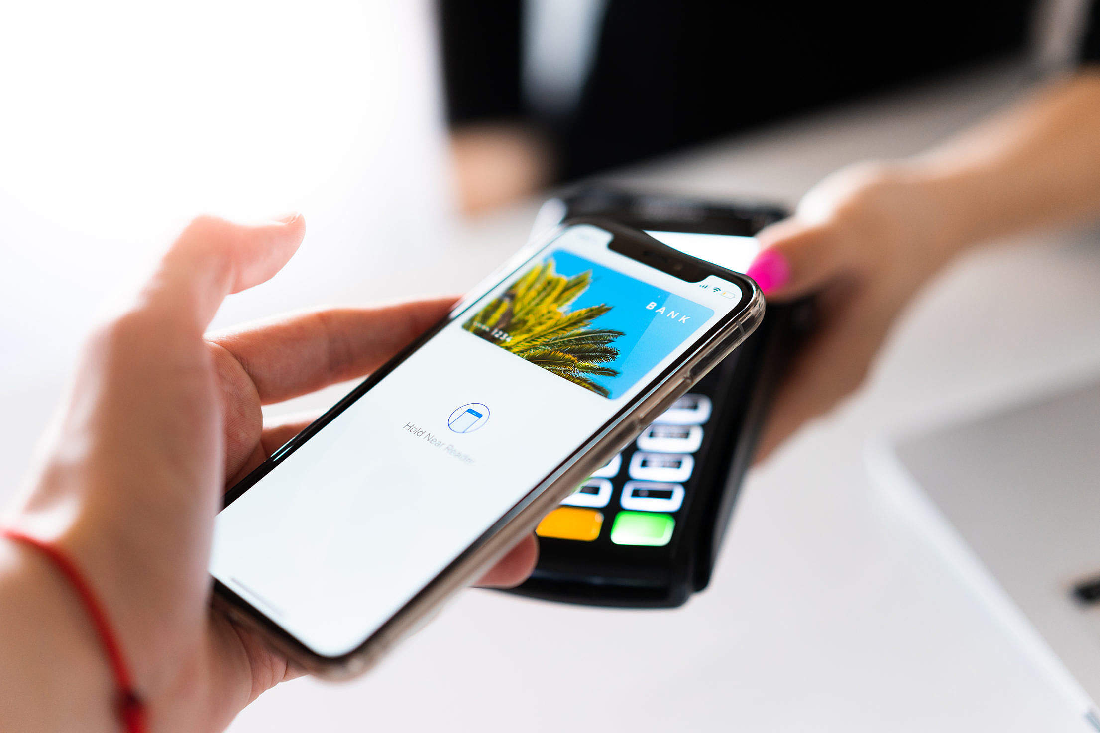 Paying with Smartphone Contactless NFC Free Stock Photo