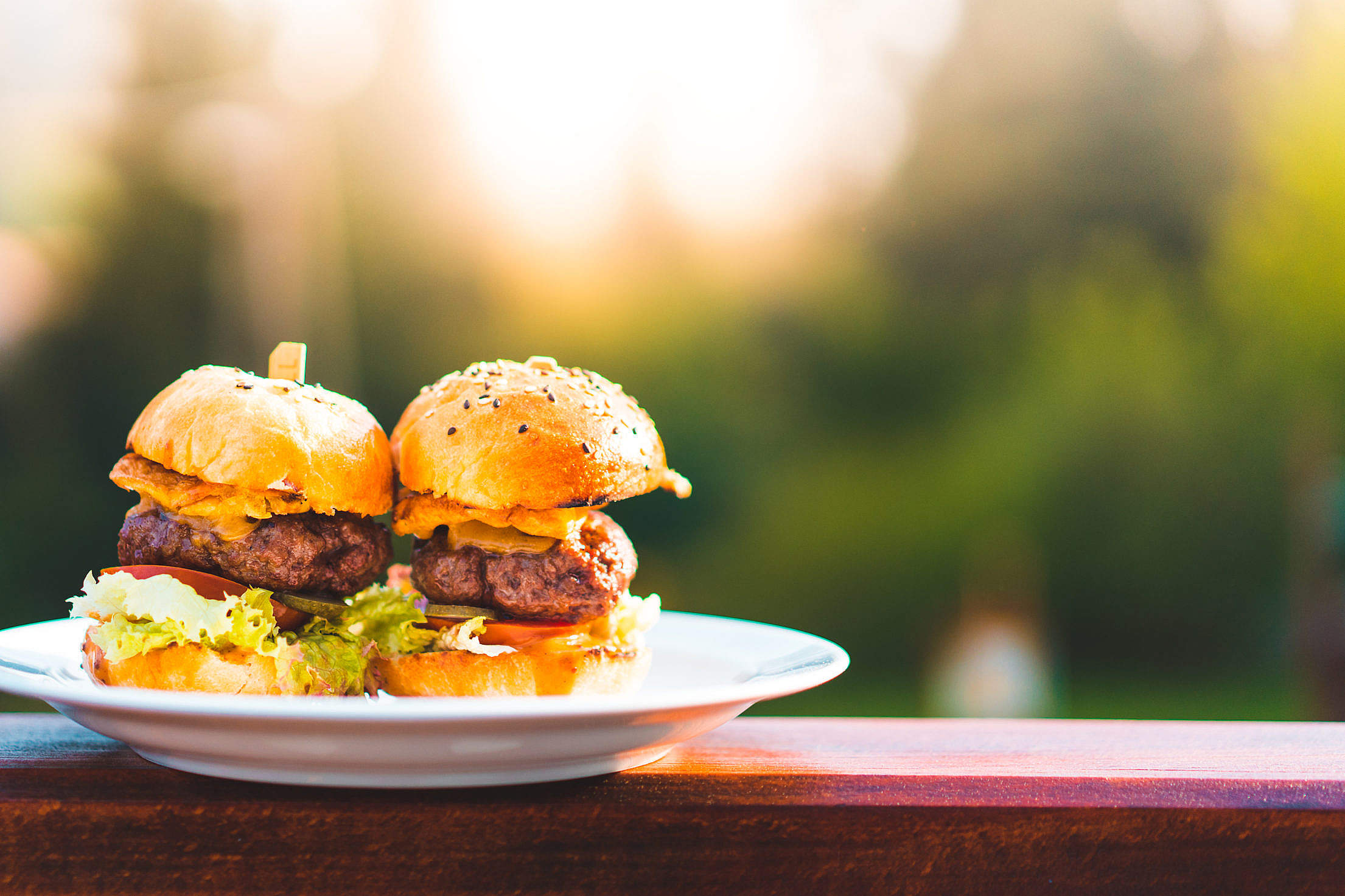 Perfect Mini Hamburgers Free Stock Photo