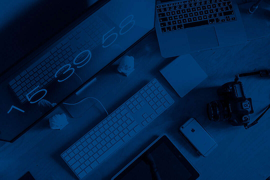 Download Photographer Designer Workspace Setup From Above FREE Stock Photo