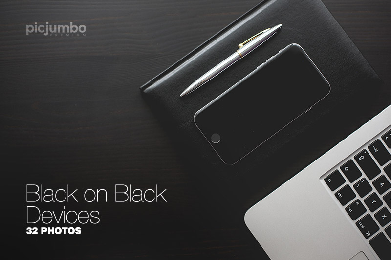 Get this collection now: Black on Black Devices