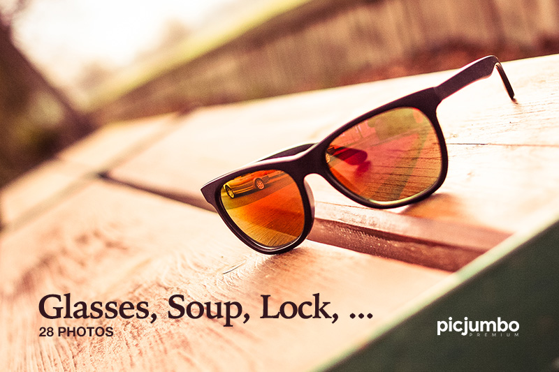 Glasses, Soup, Lock