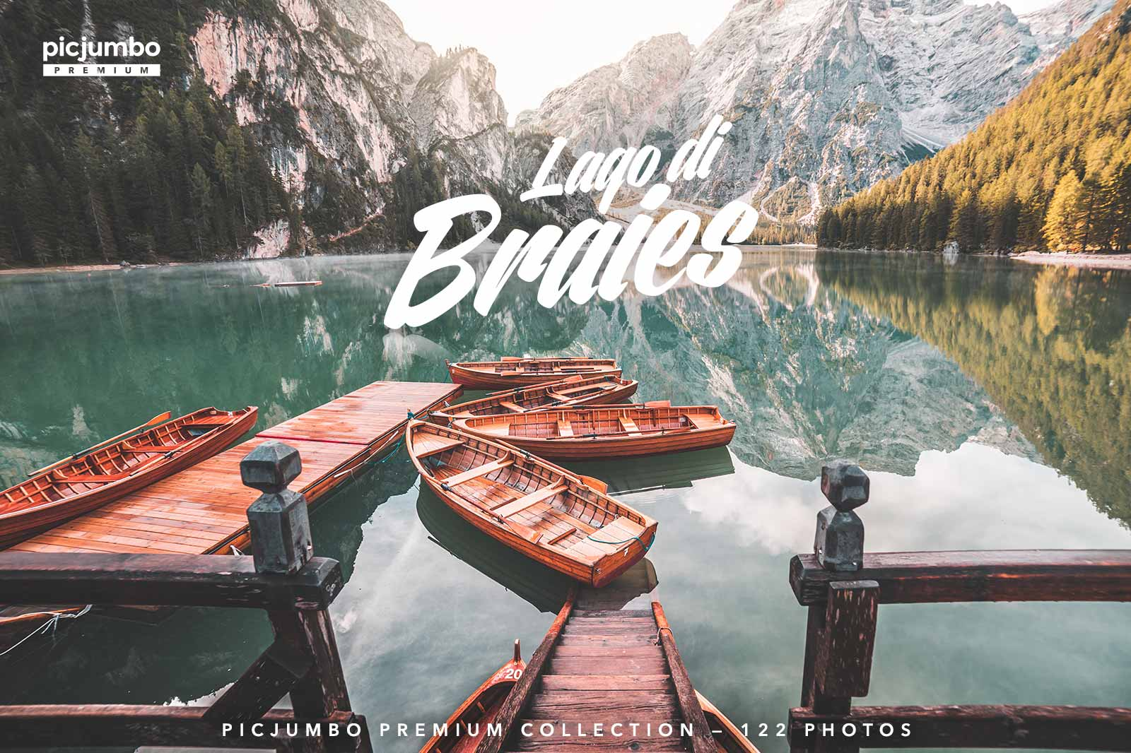 Lago di Braies — get it now in picjumbo PREMIUM!