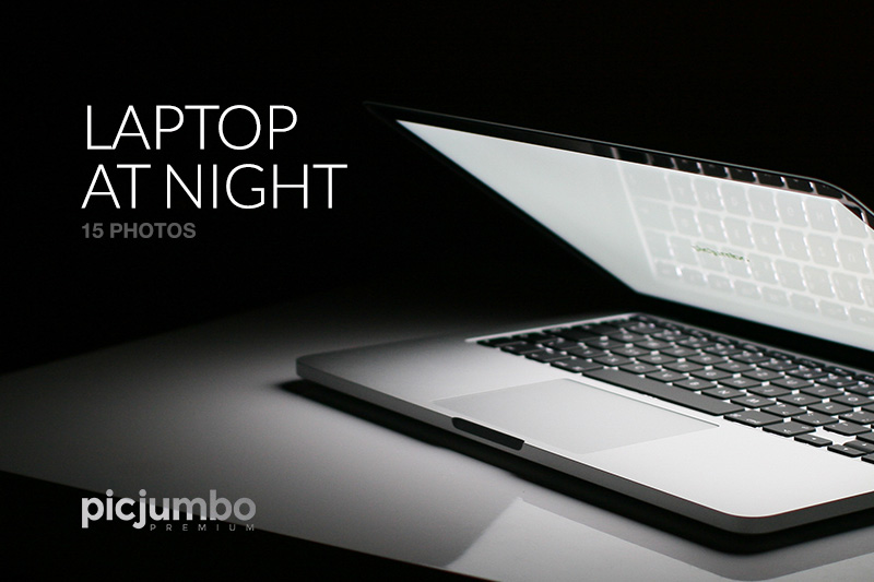 Laptop at Night — Join PREMIUM and get instant access to this collection!