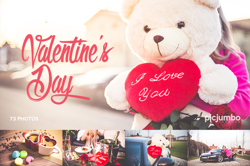 happy girl with teddy bear: happy valentine's day! free stock, Ideas