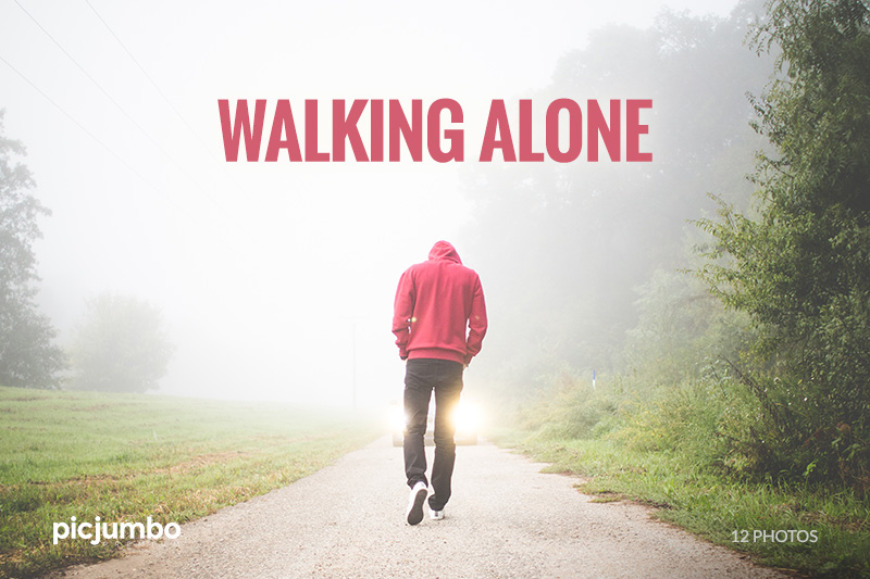 Walking Alone — get it now in picjumbo PREMIUM!