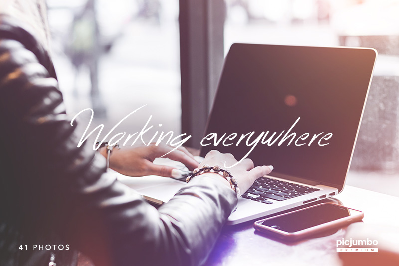 Working Everywhere — get it now in picjumbo PREMIUM!