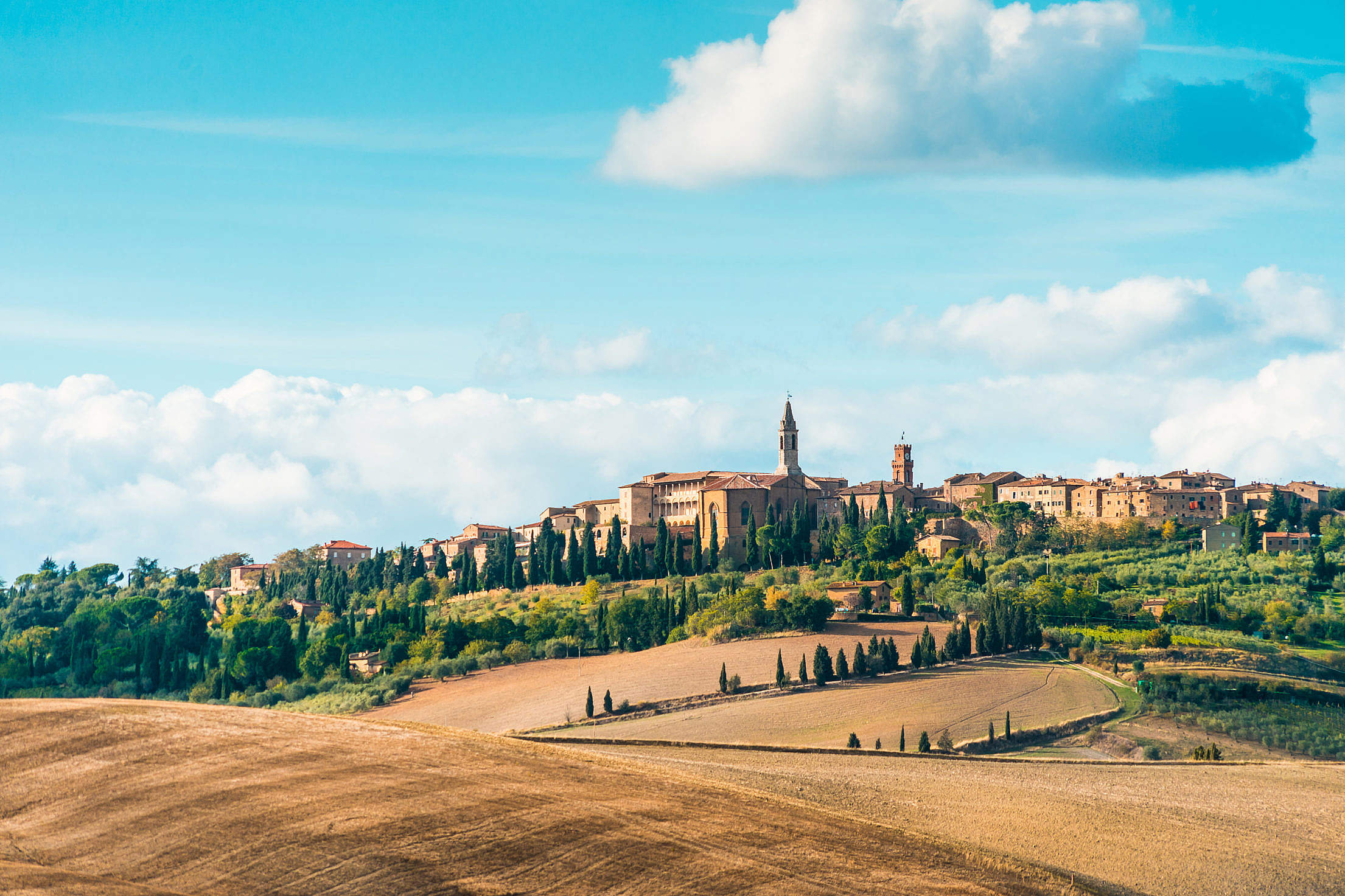 Pienza Town in Tuscany (Val d'Orcia), Italy Free Stock Photo