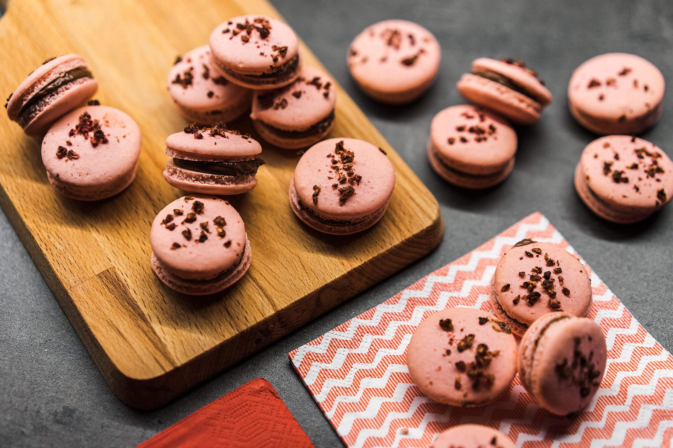 Pink Macarons Free Stock Photo