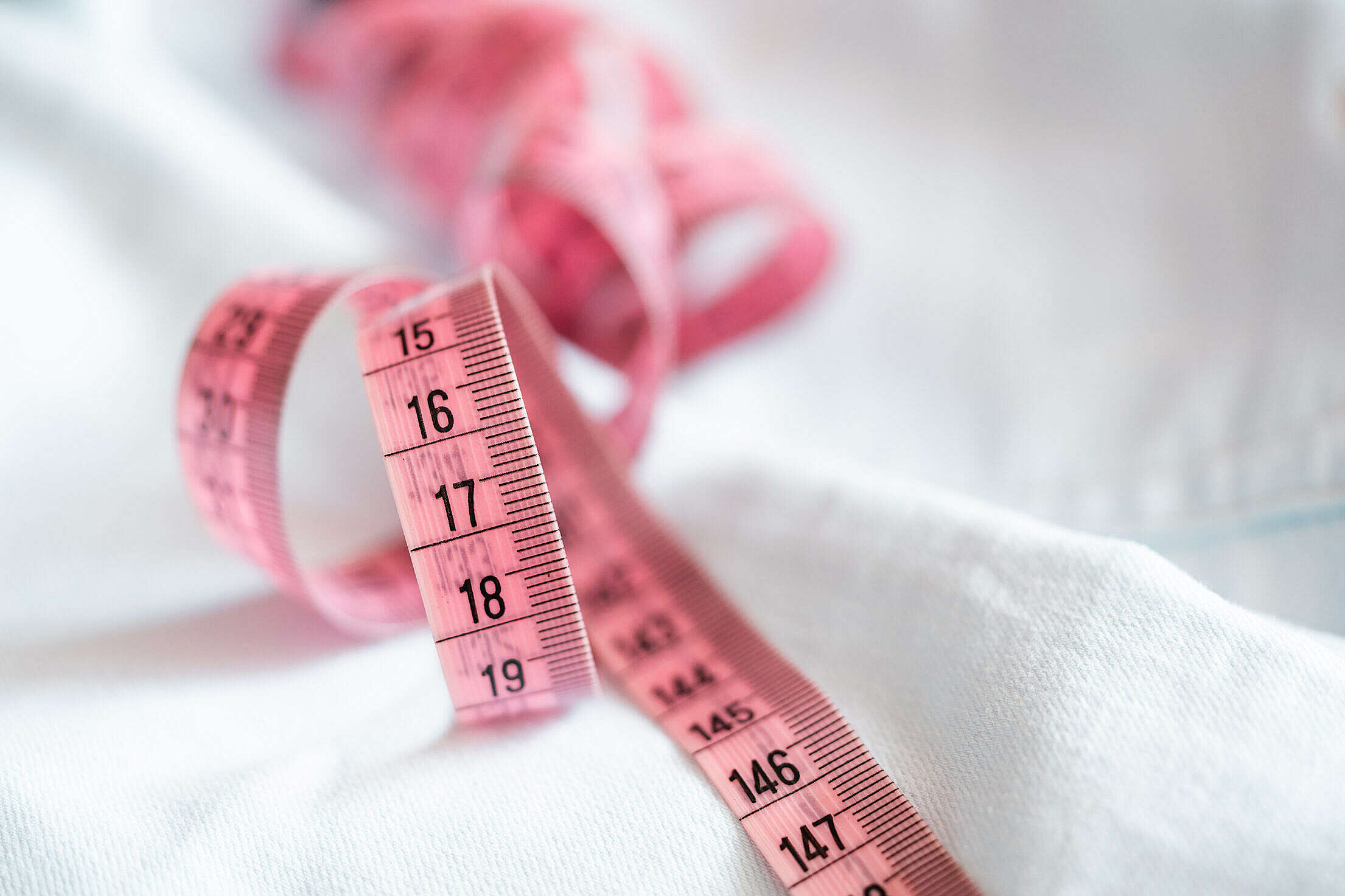 Pink Measuring Tape Free Stock Photo