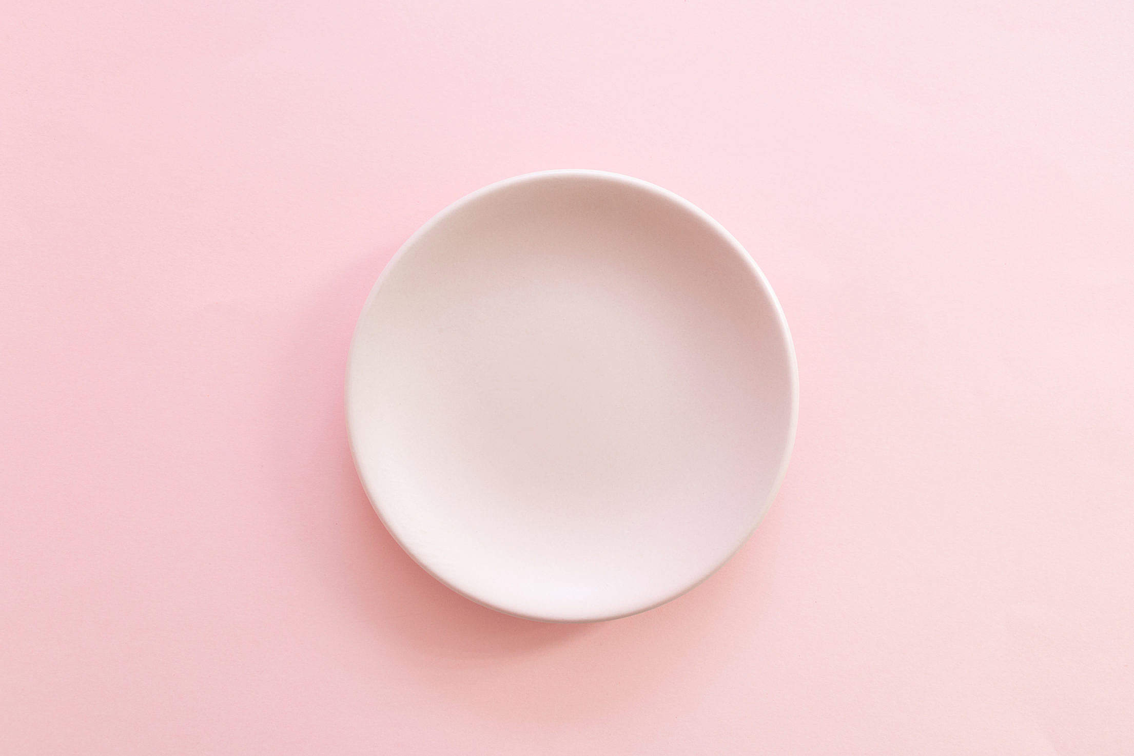 Pink Plate Minimalism Free Stock Photo