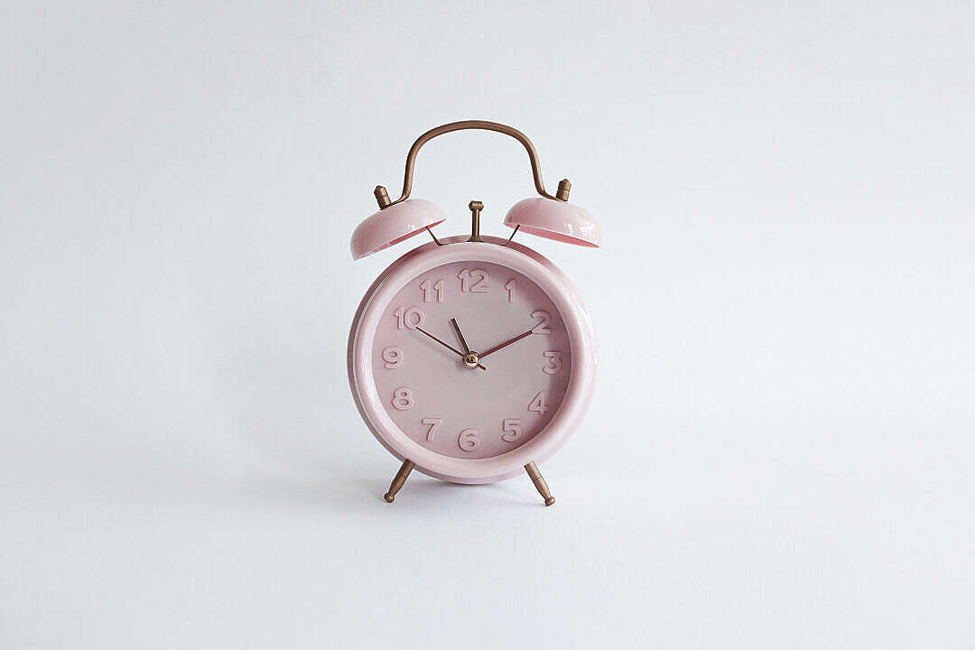 Download Pink Vintage Alarm Clock Retro FREE Stock Photo