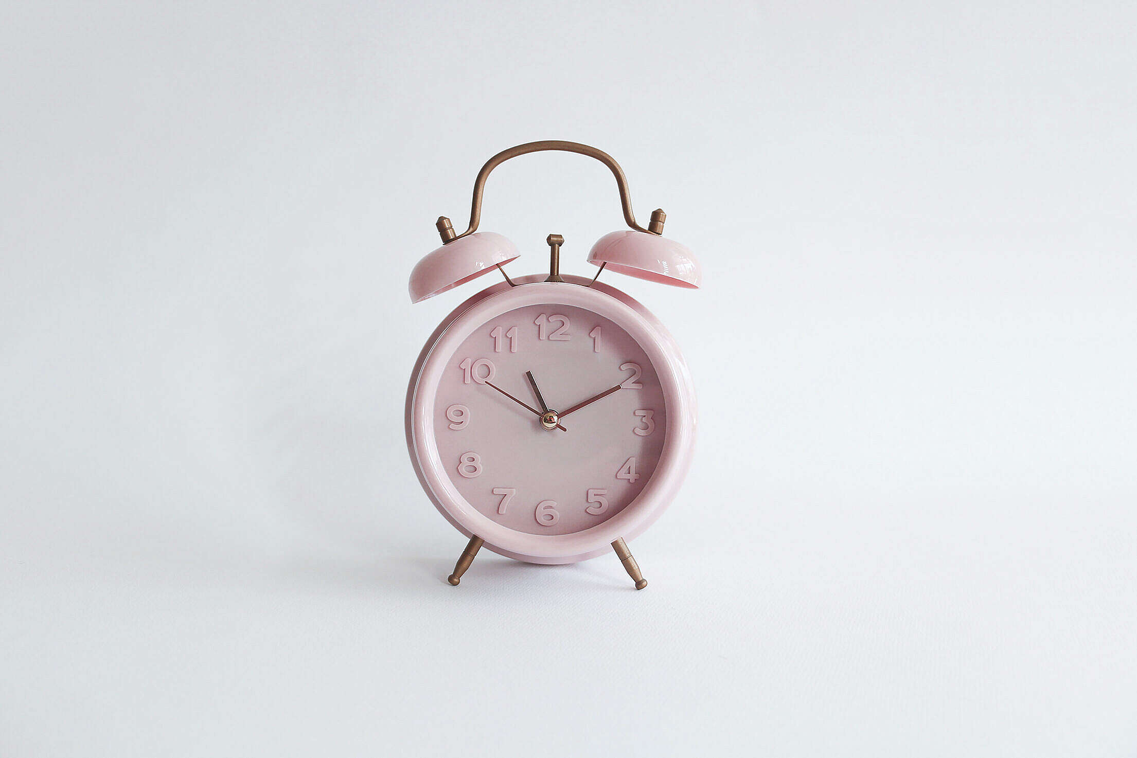 Pink Vintage Alarm Clock Retro Free Stock Photo