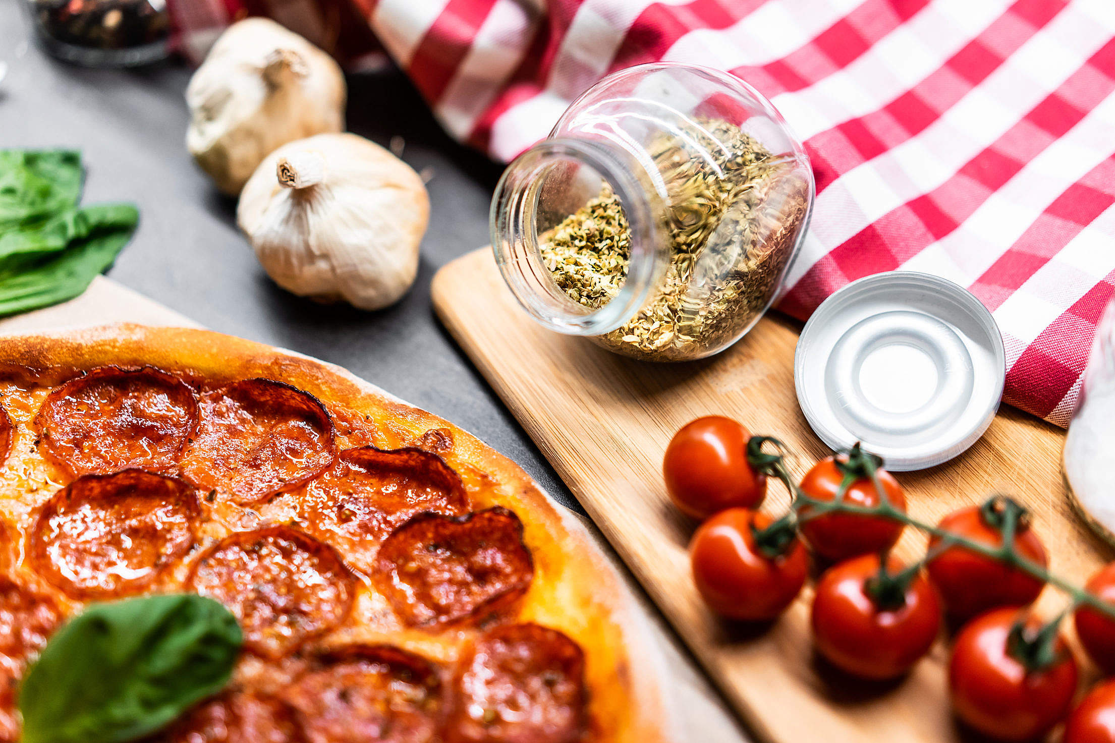 Pizza Ingredients Free Stock Photo