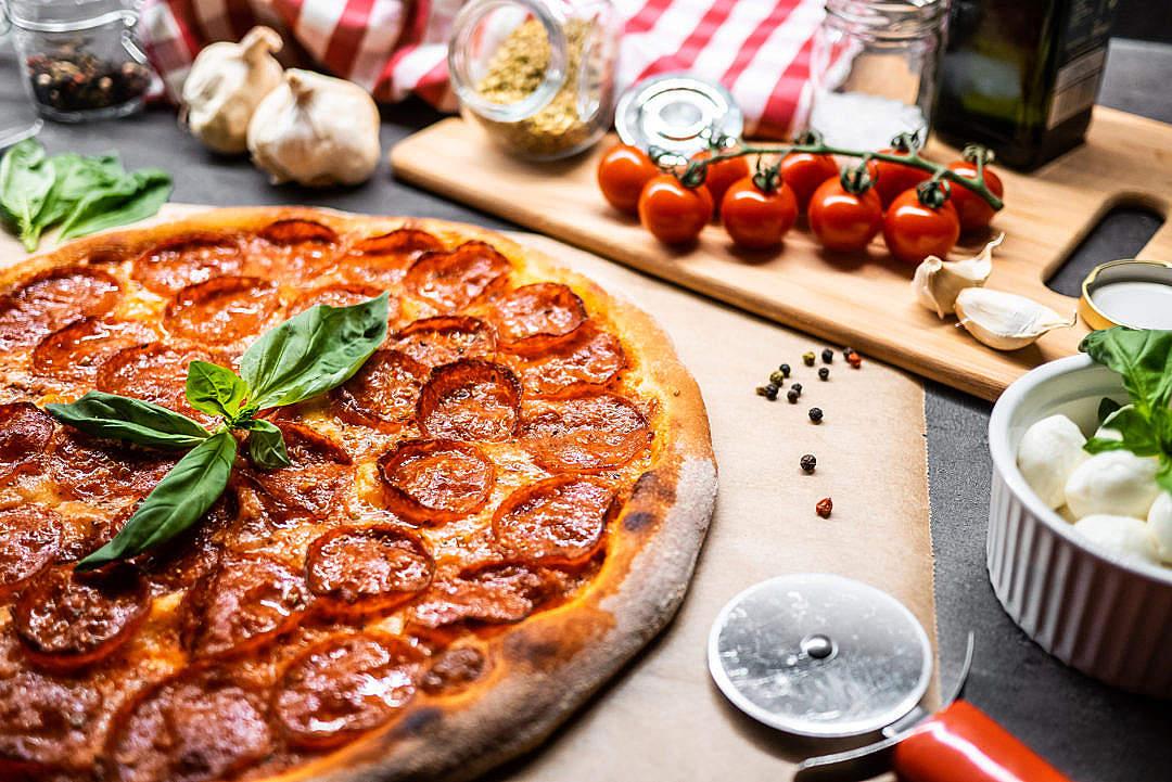 Download Pizza Salami FREE Stock Photo
