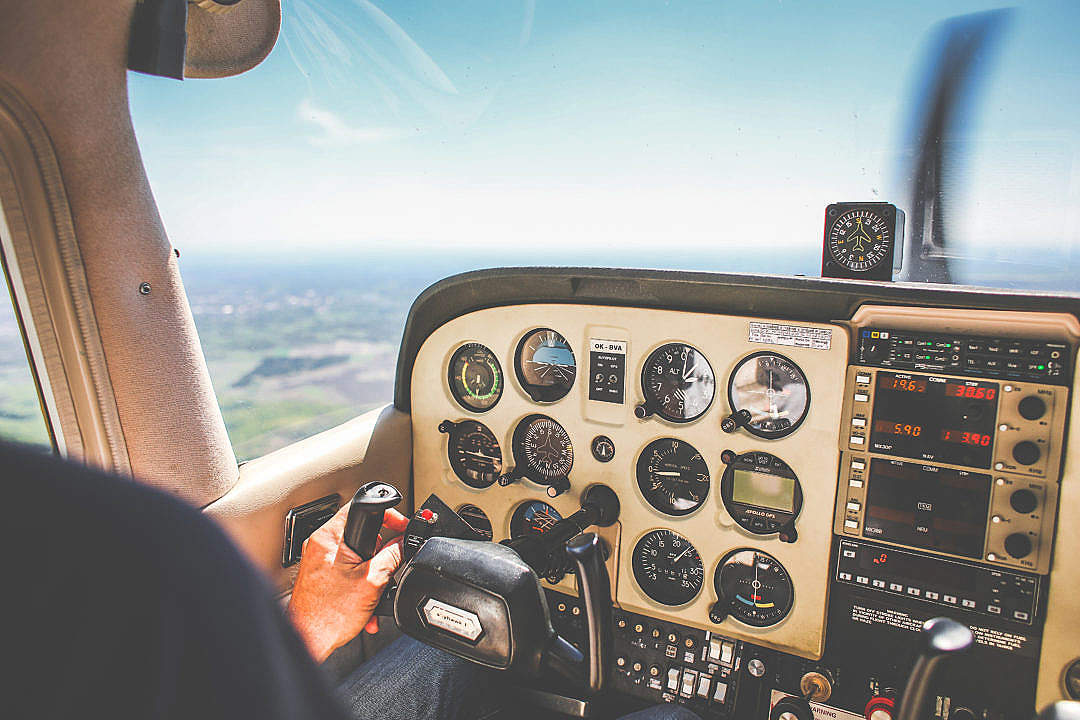 Download Plane Dashboard FREE Stock Photo
