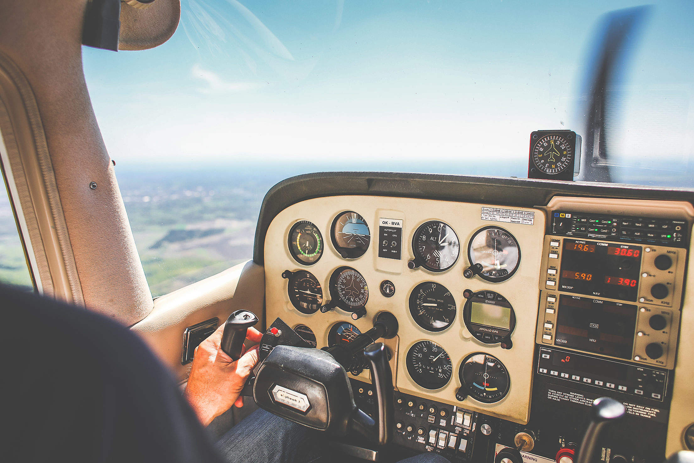 Plane Dashboard Free Stock Photo