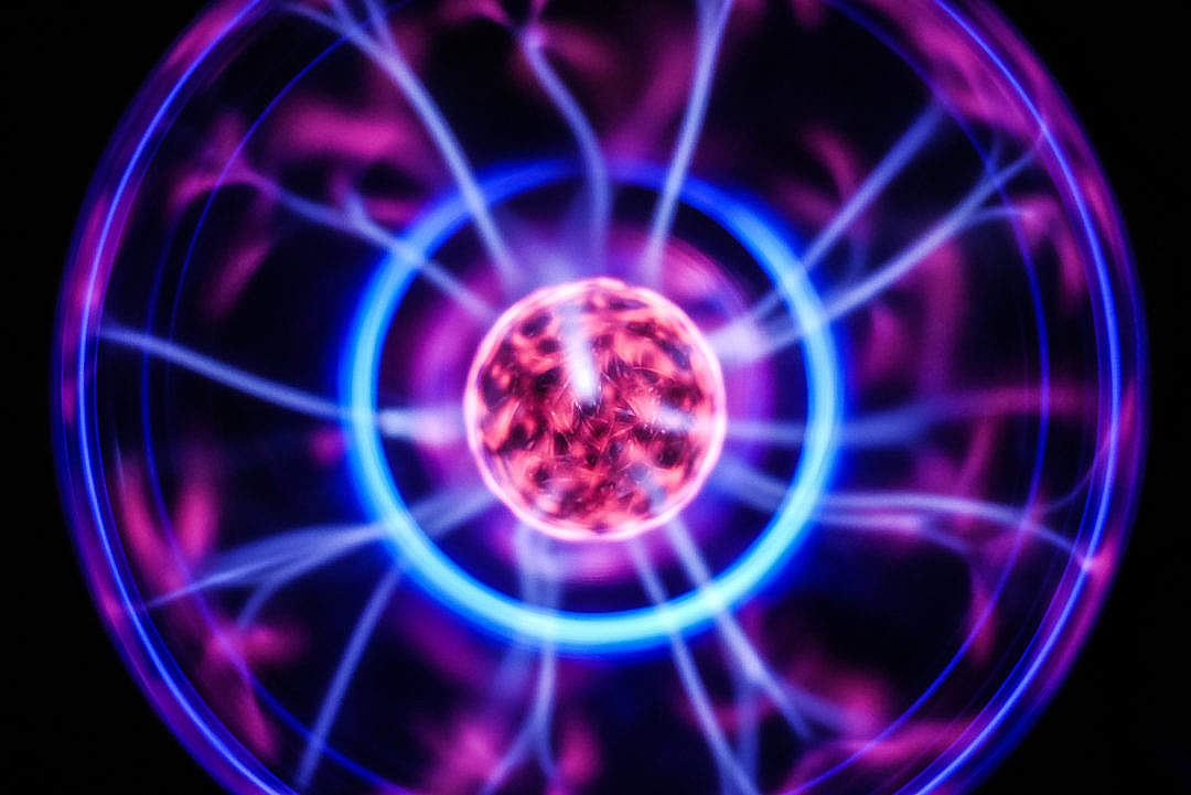 Download Plasma Ball Lamp FREE Stock Photo