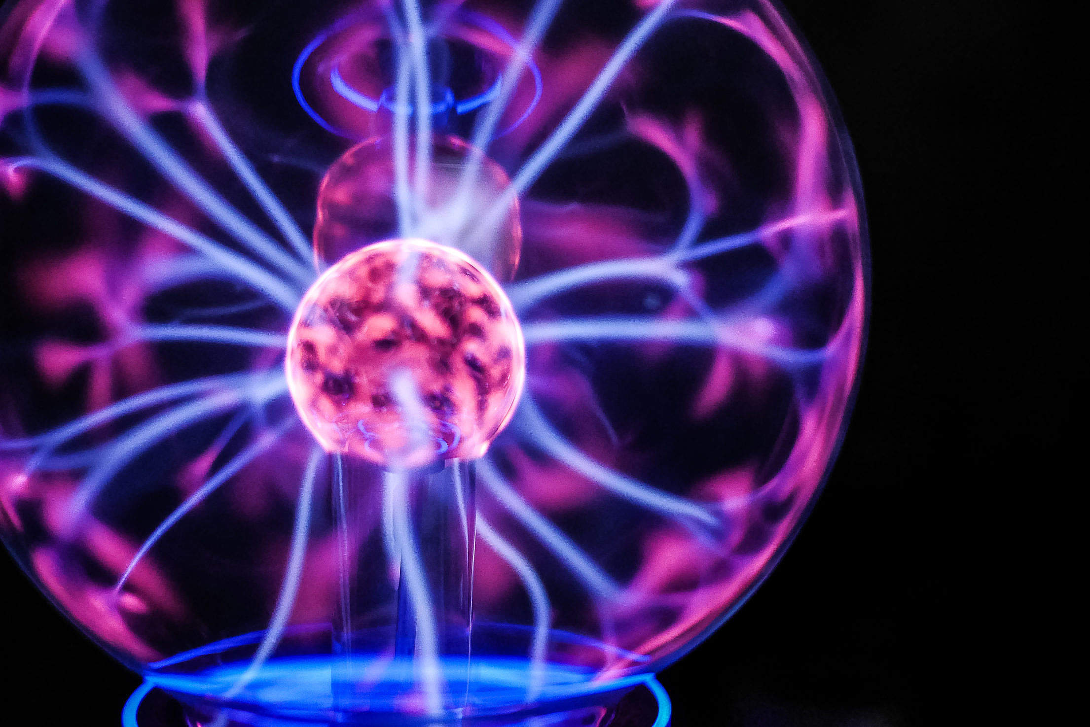 Download Plasma Ball Light Lamp Free Stock Photo