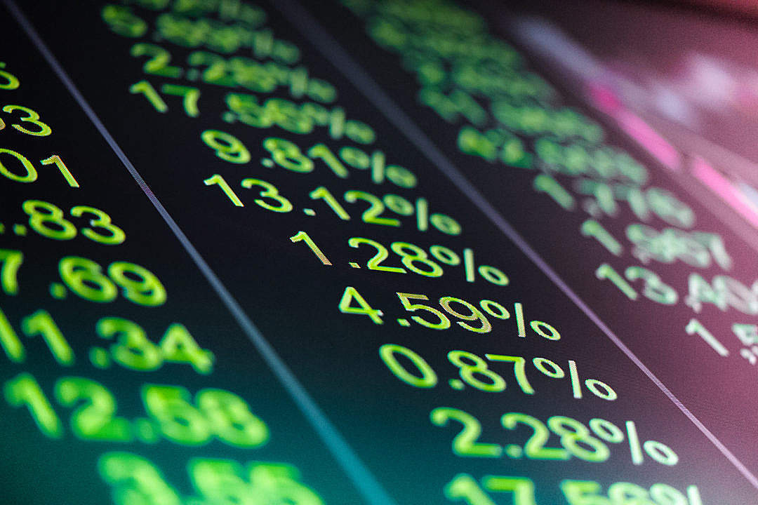 Download Plus Green Stock Exchange Numbers FREE Stock Photo