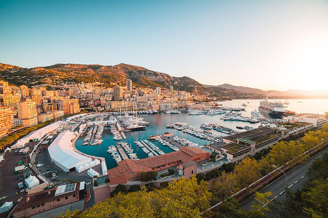 Download Port of Monaco FREE Stock Photo