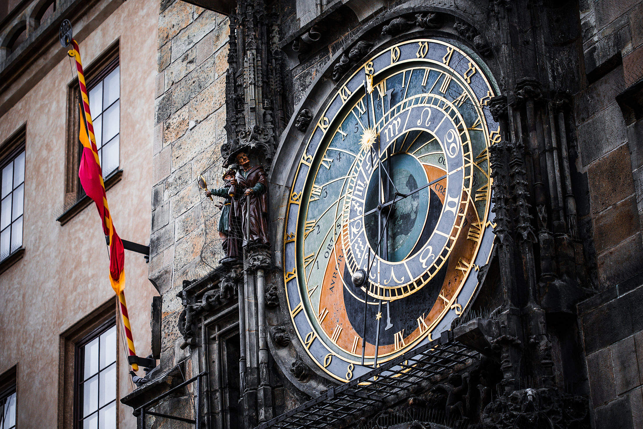 Download Prague Astronomical Clock in the Old Town Square Free Stock Photo