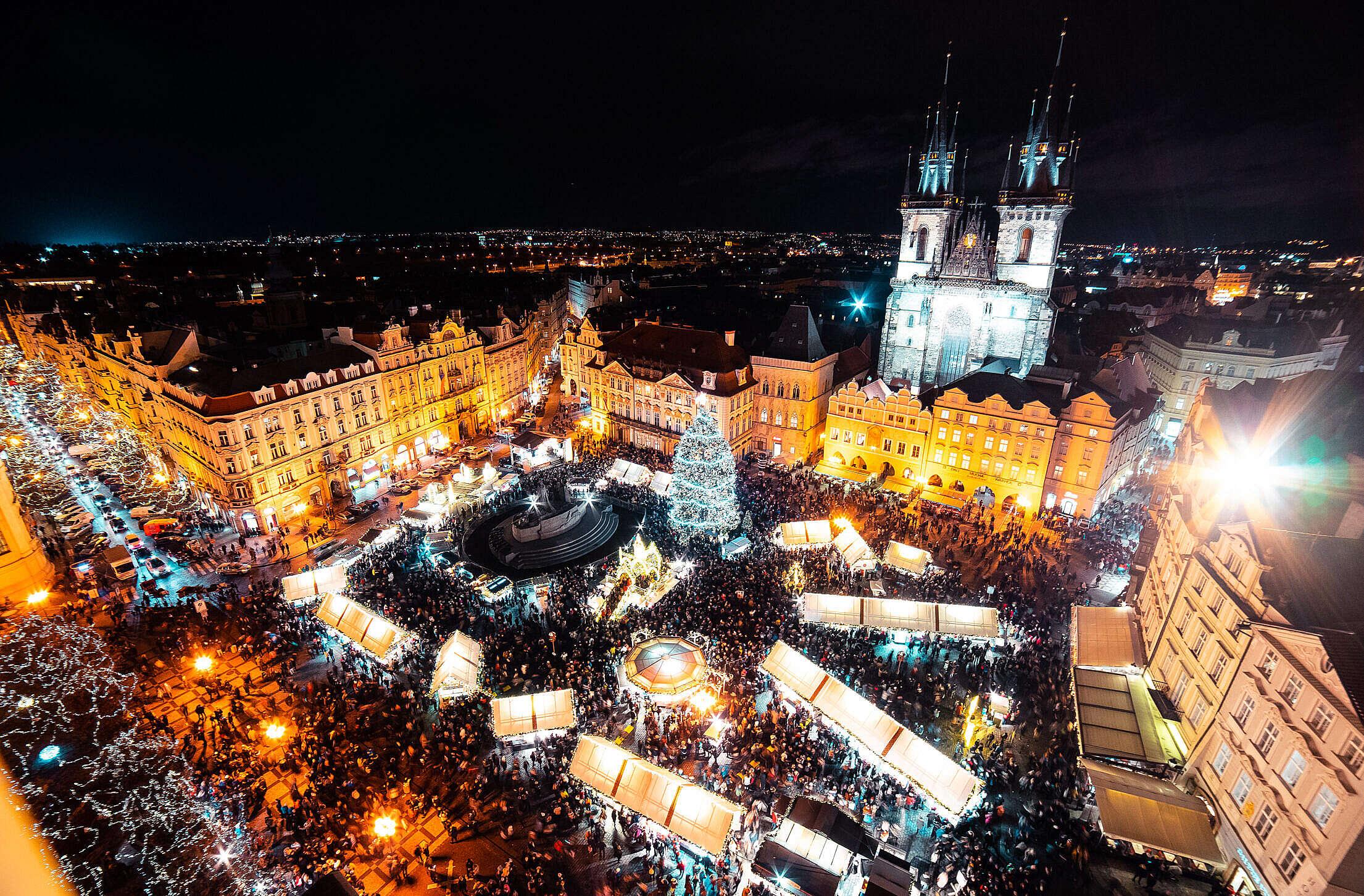 Prague Christmas Market Free Stock Photo