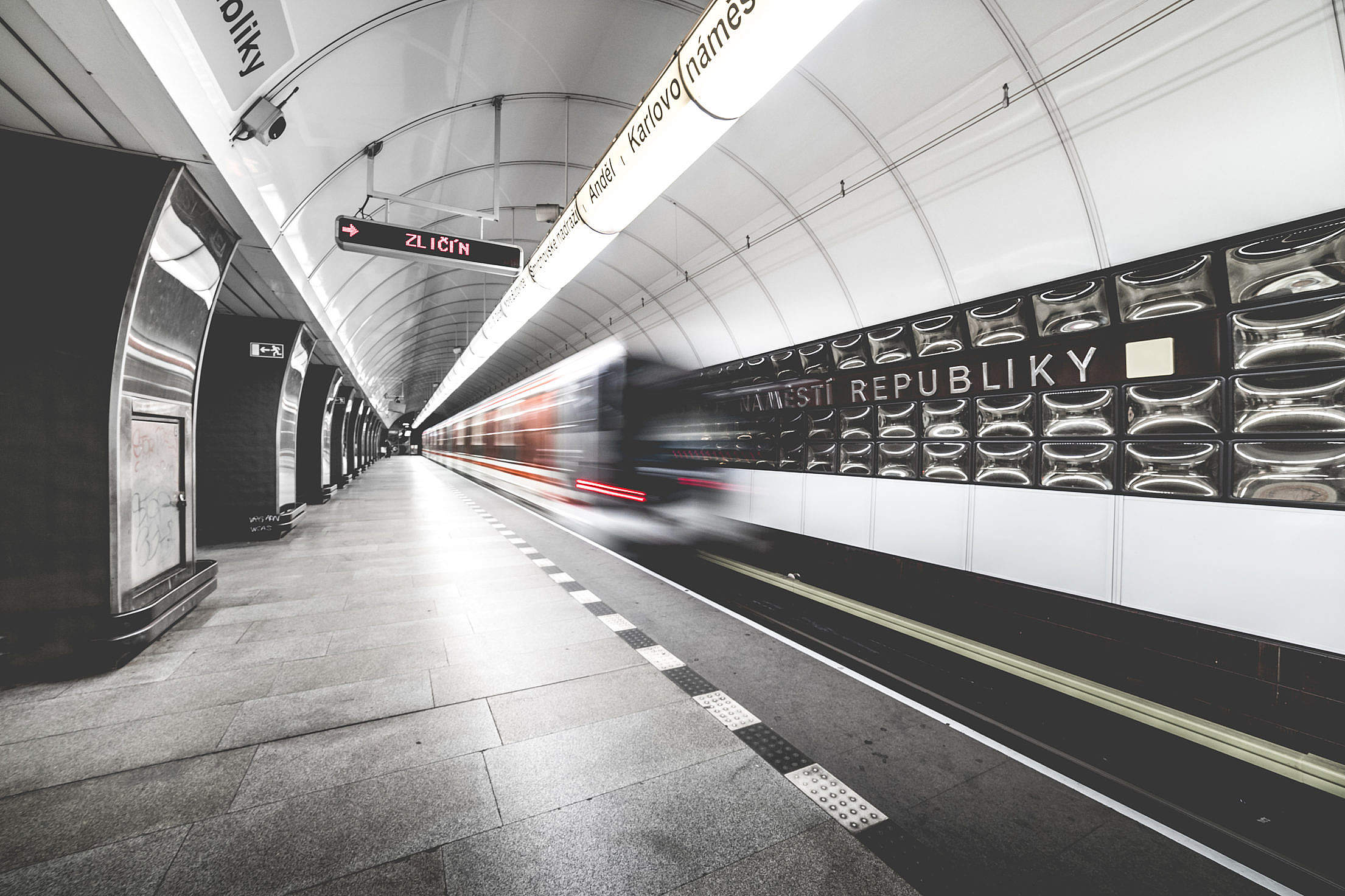 Prague Metro Subway Public Transport Station Free Stock Photo