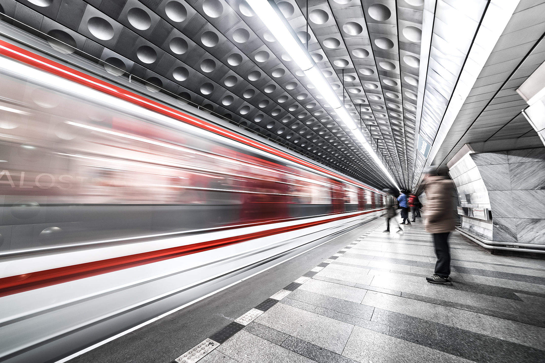 Prague Metro Underground Subway Station Free Stock Photo