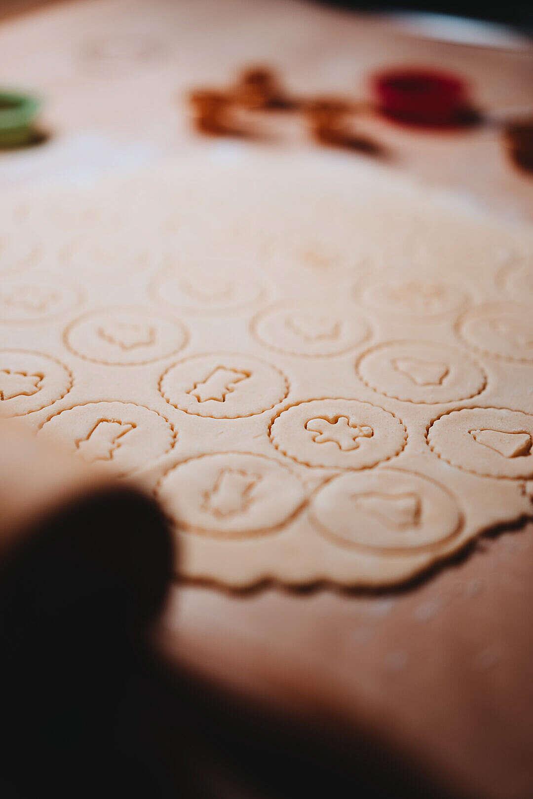 Download Preparing Christmas Linzer Cookies FREE Stock Photo