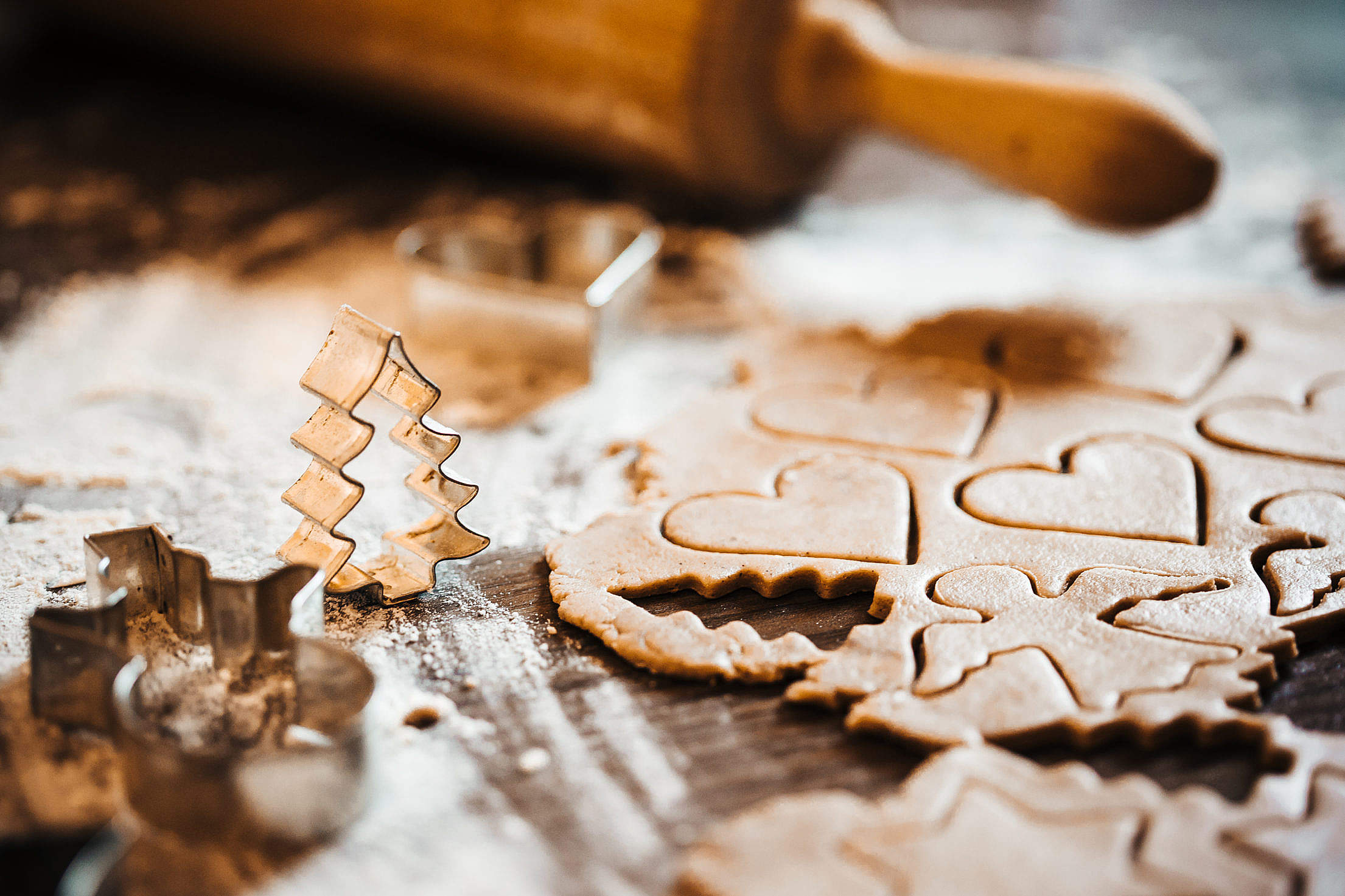 Preparing Christmas Sweets for Baking Free Stock Photo