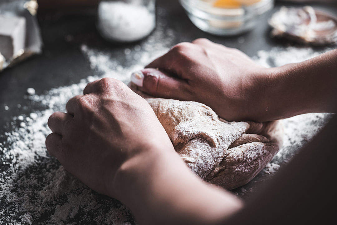 Download Preparing Dough for Homemade Bread FREE Stock Photo