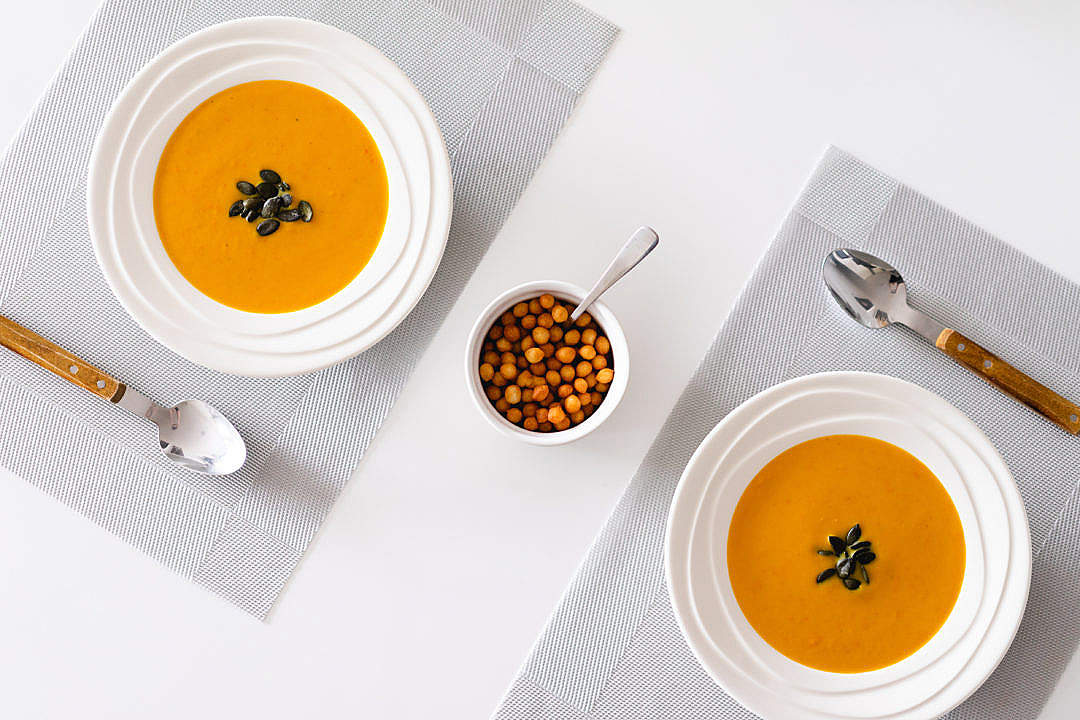 Download Pumpkin Soup FREE Stock Photo