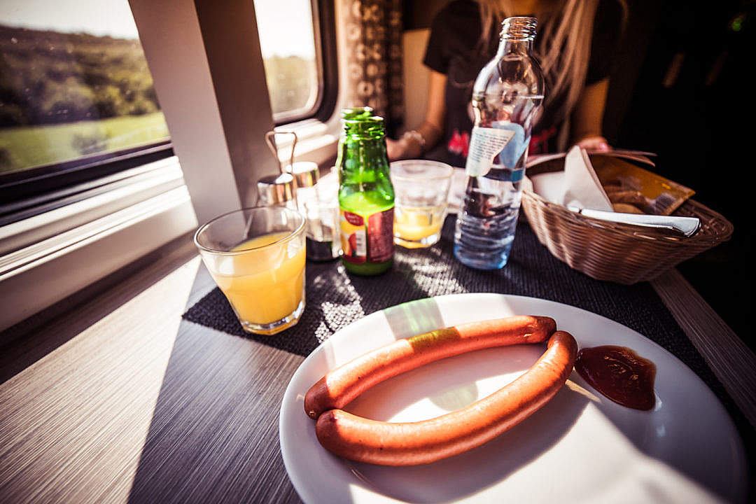 Download Quick Travel Morning Breakfast in Train FREE Stock Photo