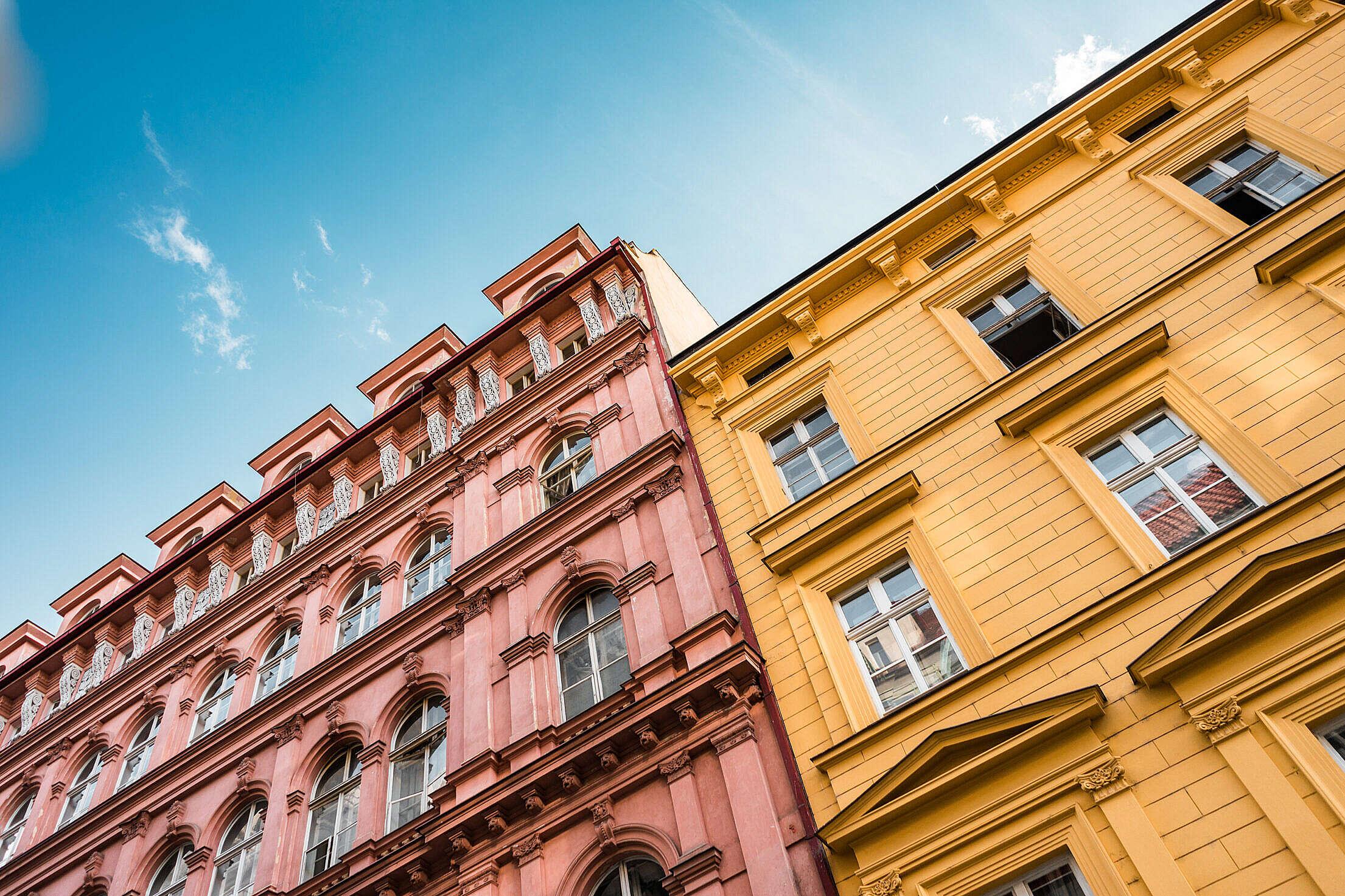 Random Buildings in Prague, Czechia Free Stock Photo