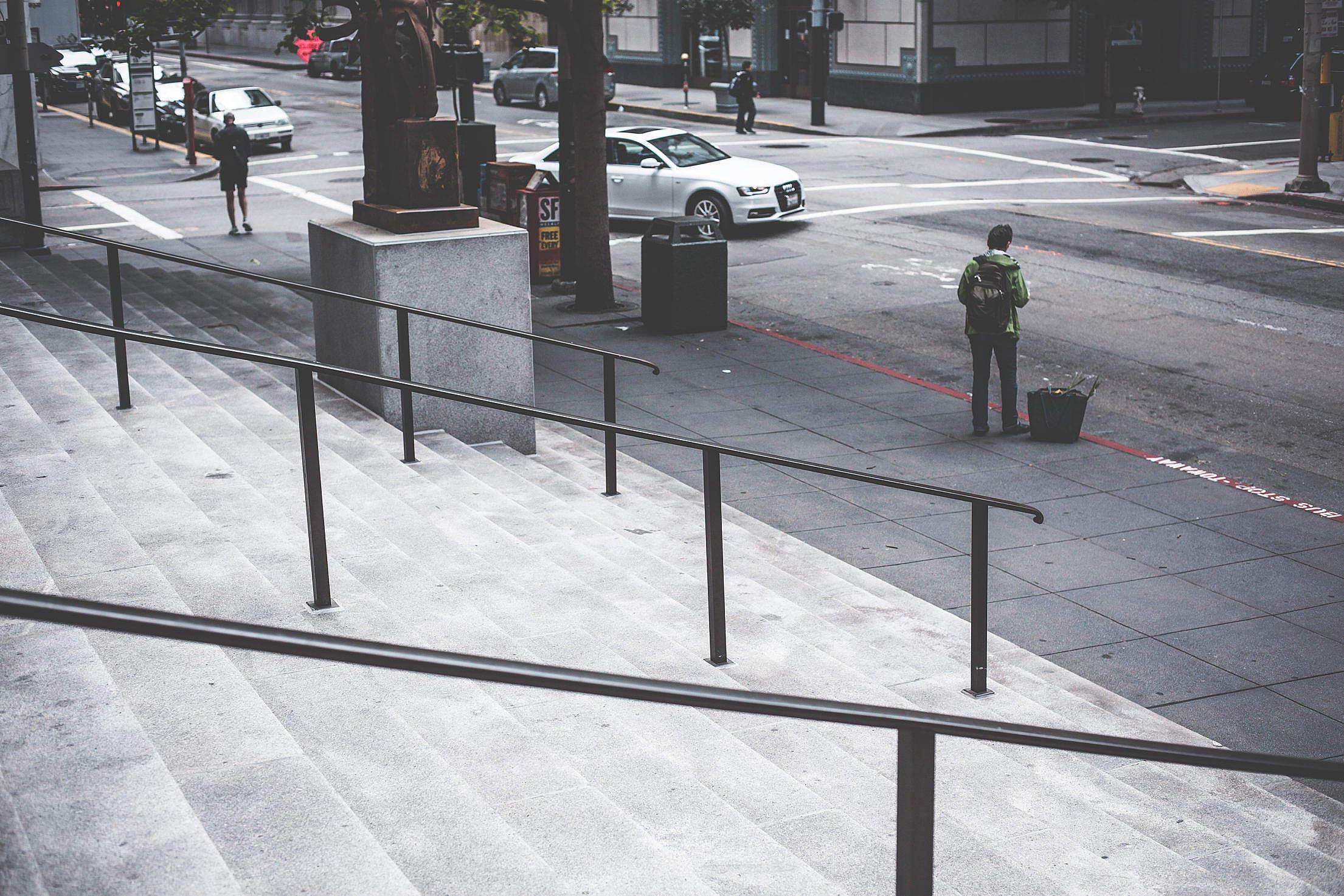 Random Dark San Francisco Street Free Stock Photo