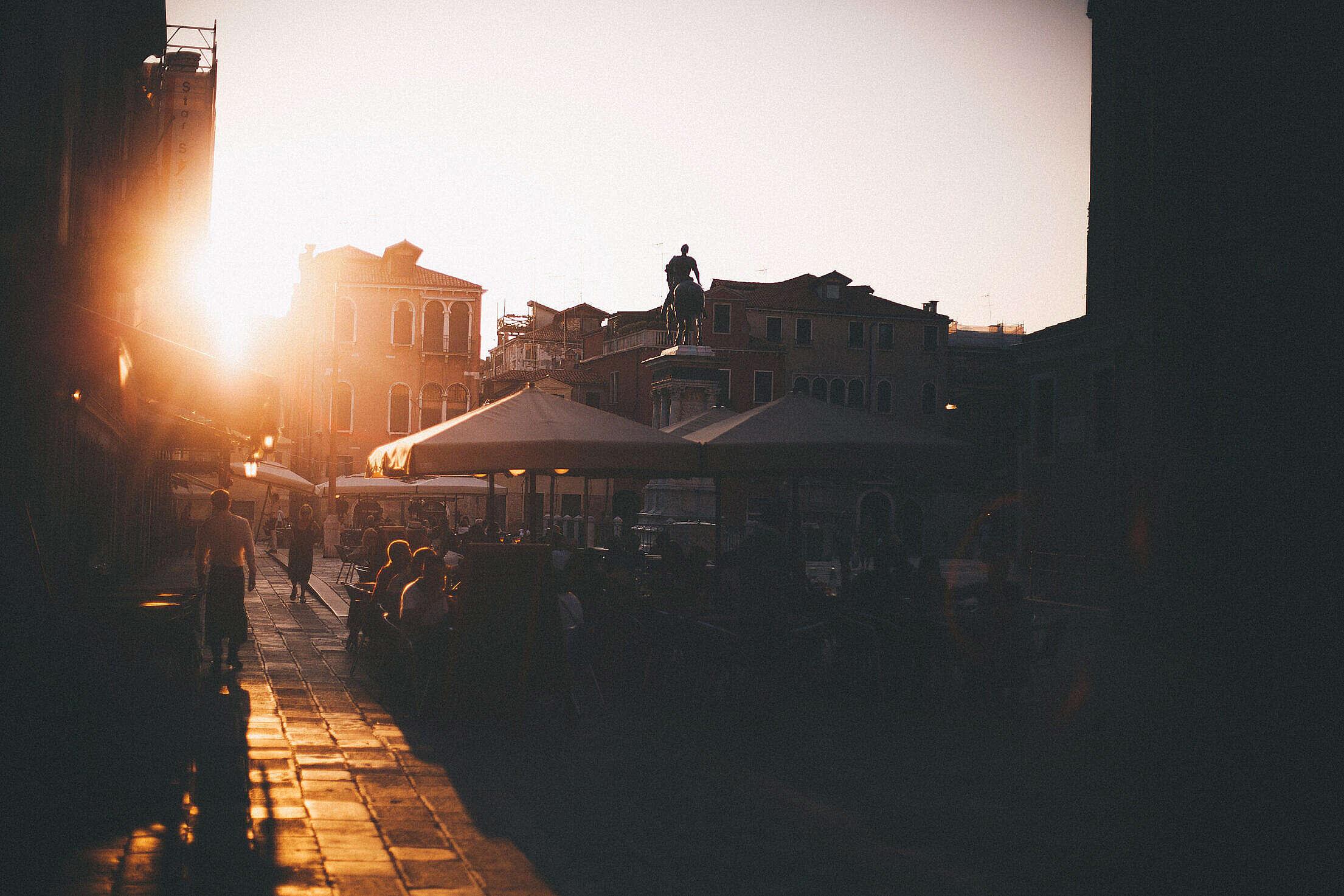 Random Square in Venice, Italy Free Stock Photo