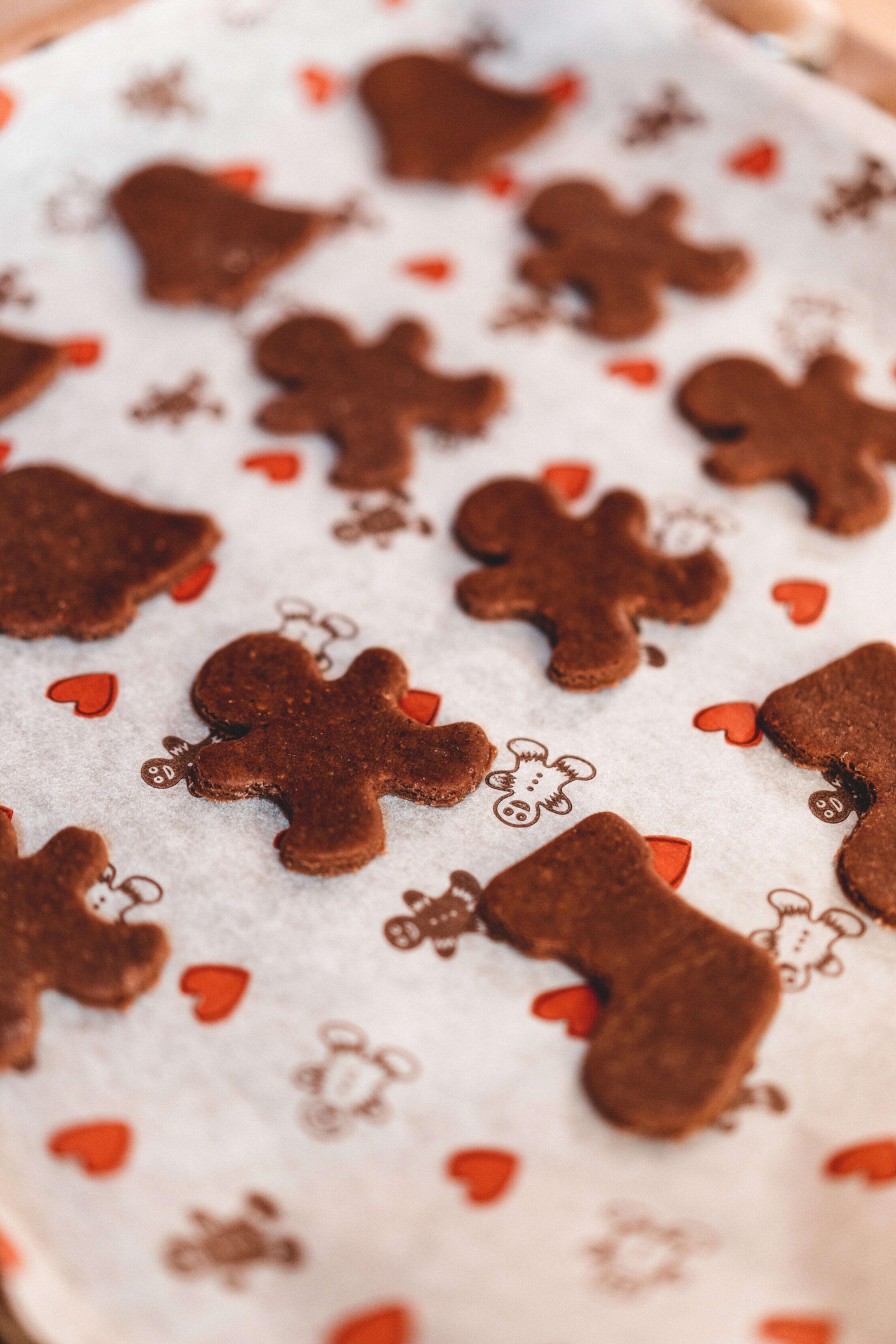 Raw Christmas Gingerbread Free Stock Photo