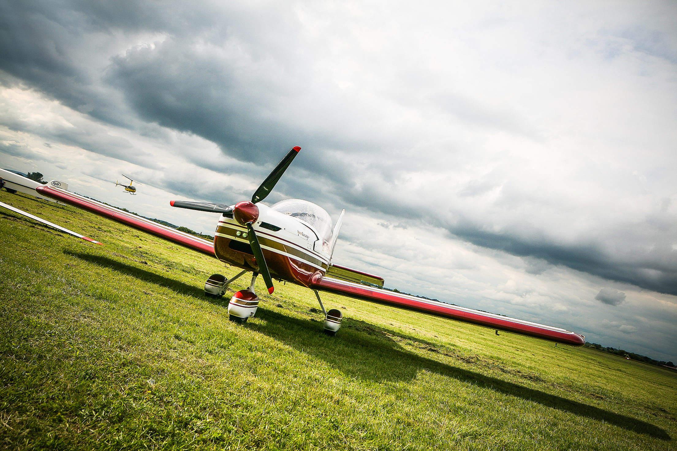 Red Airplane Free Stock Photo