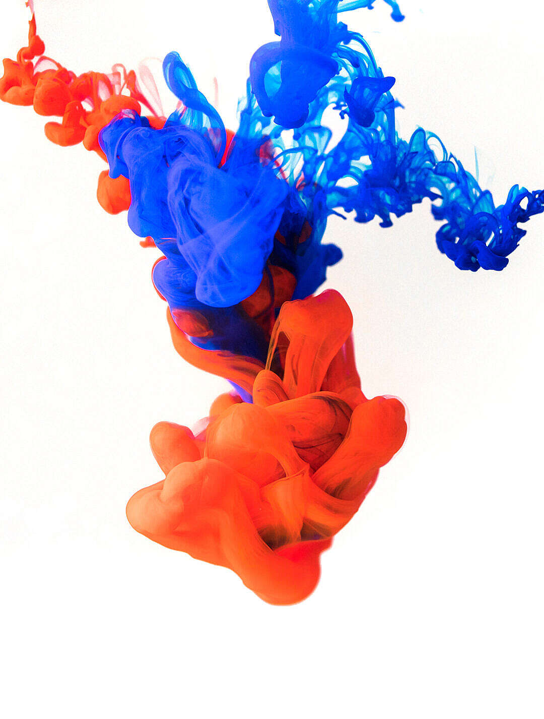 Download Red and Blue Ink FREE Stock Photo
