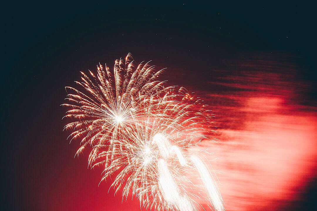Download Red Fireworks FREE Stock Photo