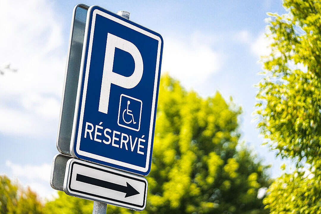 Download Reserved Parking Space for Handicapped FREE Stock Photo