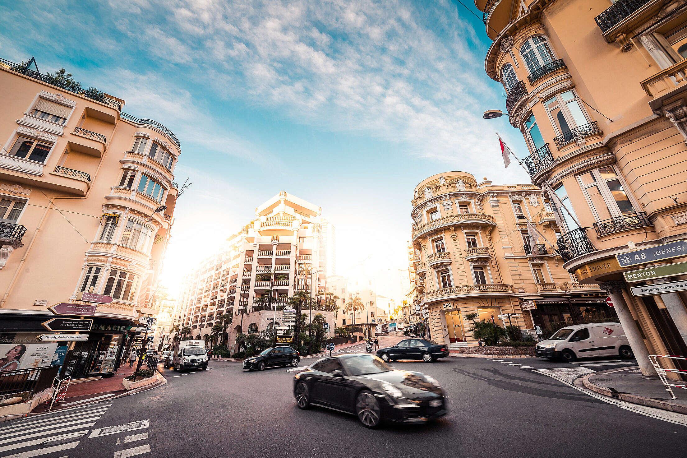 Rich Streets of Monaco Free Stock Photo
