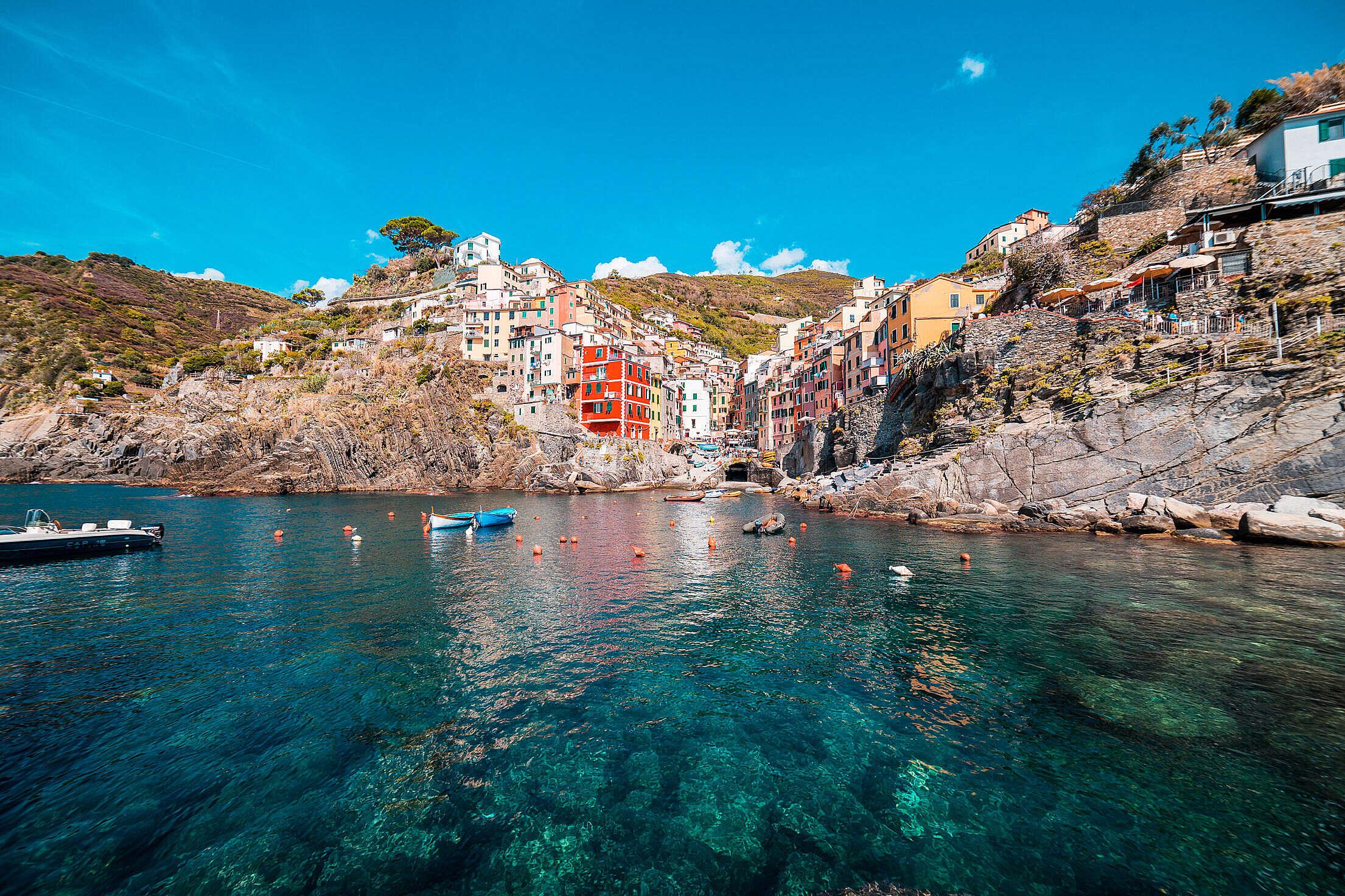 Riomaggiore, Cinque Terre, Italy Free Stock Photo