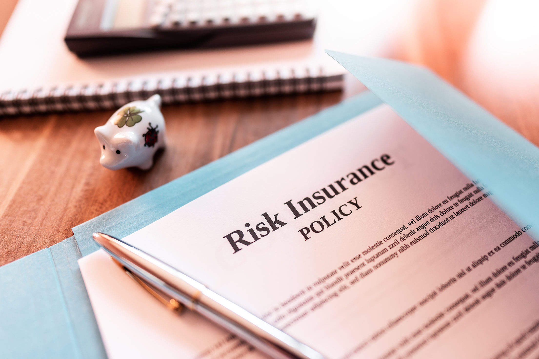 Risk Insurance Policy Free Stock Photo
