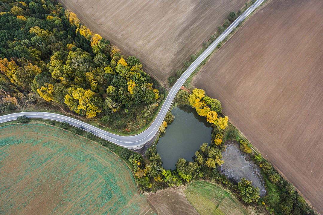 Download Road from Above Bird's View FREE Stock Photo