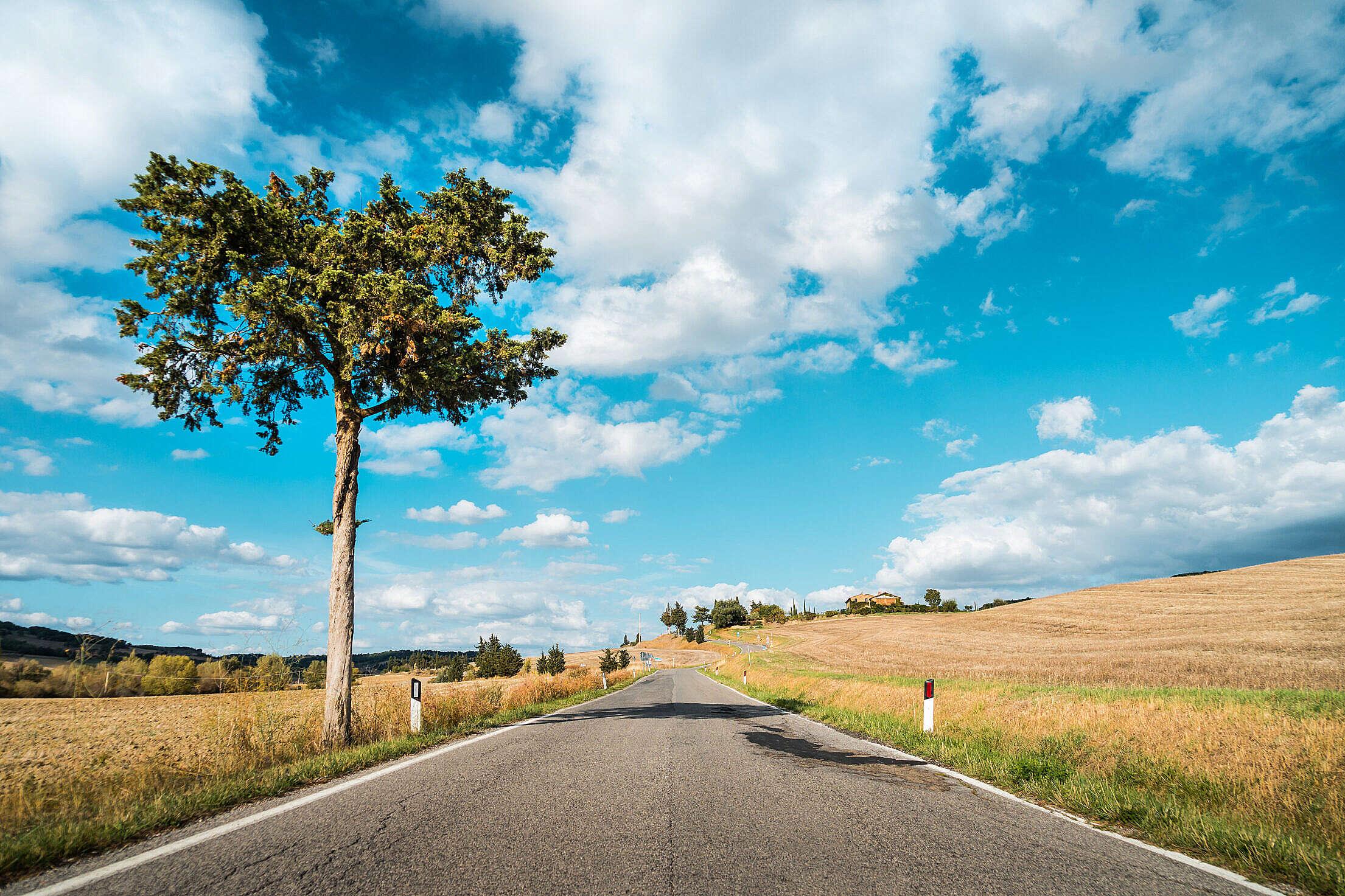Road in Tuscany, Italy Free Stock Photo