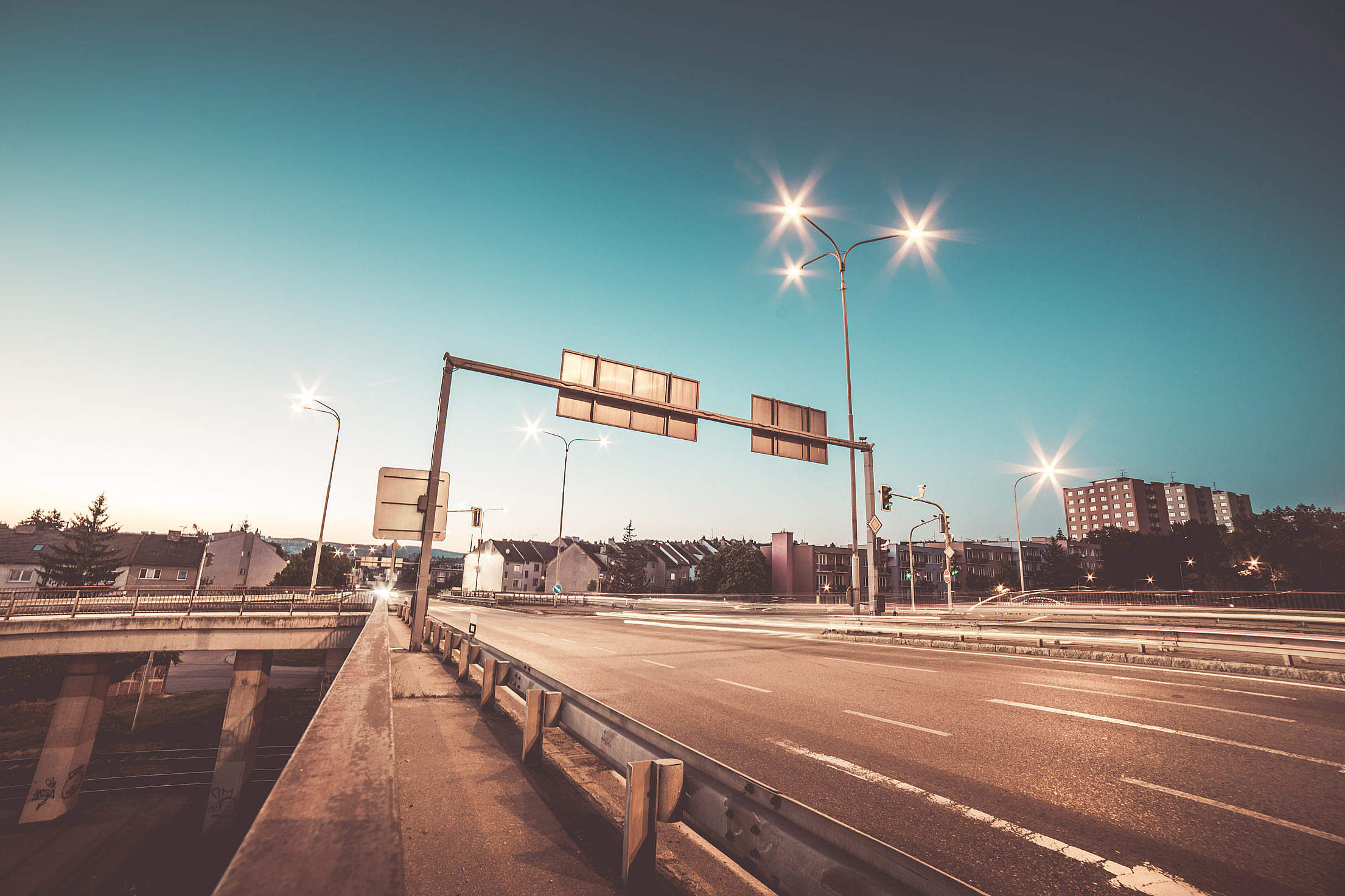 Road Intersection and Traffic Lights #3 Free Stock Photo