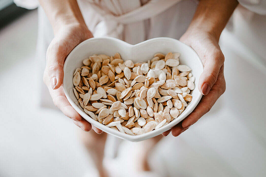 Download Roasted Pumpkin Seeds FREE Stock Photo