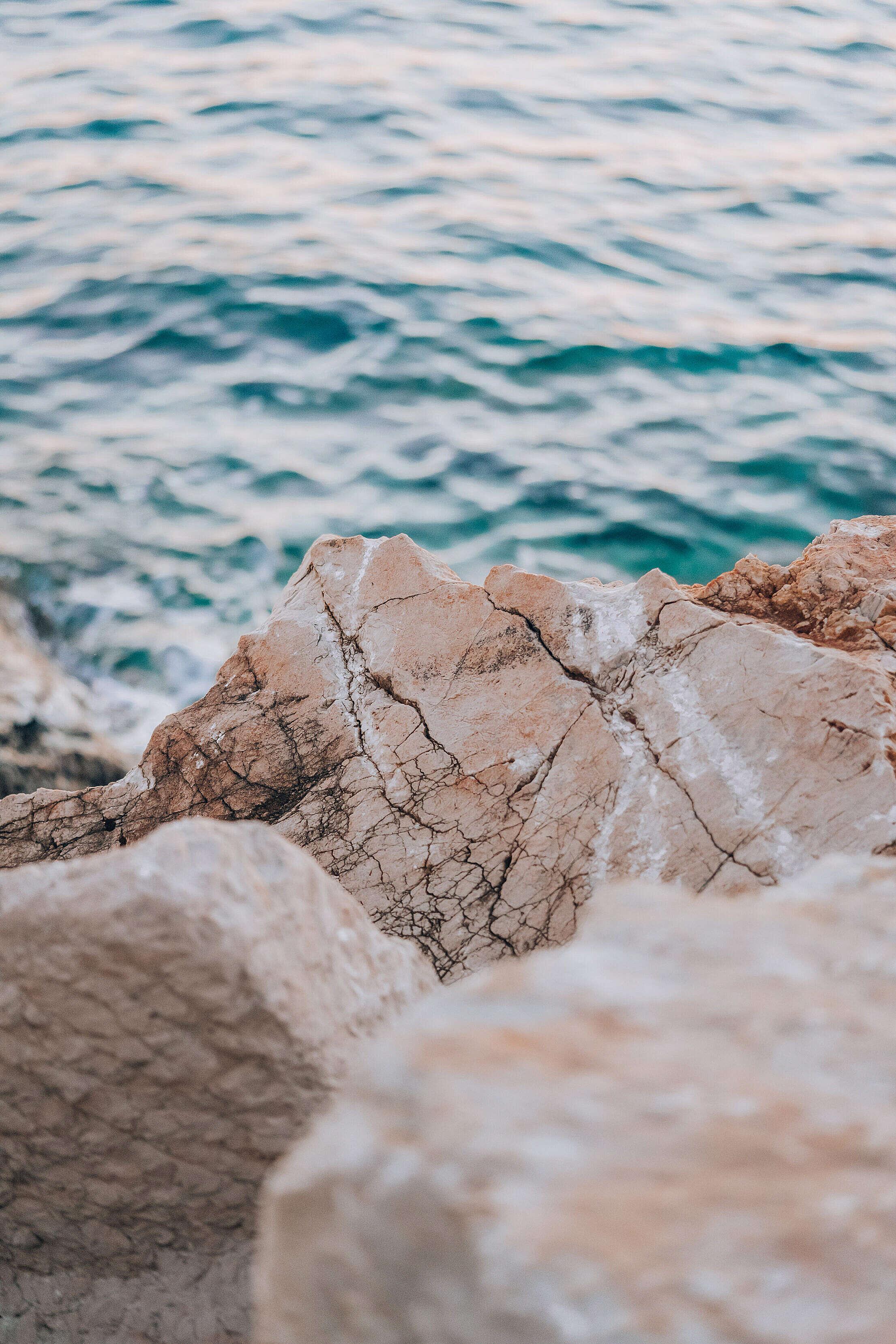Rocky Sea Coast in Croatia Free Stock Photo